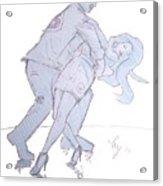 Dancing In Blue Acrylic Print