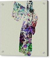 Dancing In Kimono Acrylic Print by Naxart Studio
