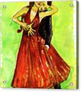 Dancing In The Showlights Acrylic Print