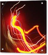 Dancing Light Streaks-1 Acrylic Print