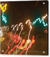 Dancing Light Streaks Acrylic Print