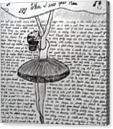 Dancing Lyrics Acrylic Print