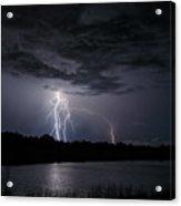 Dancing Man Lightning Acrylic Print