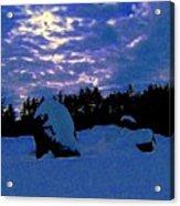 Dancing Morning Lights Acrylic Print