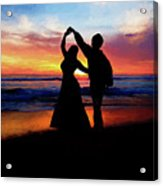 Dancing On The Beach - Painting Acrylic Print