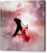 A Passionate Pair Dance In The Middle Of Nowhere, Who Embody The Strength And Subtlety Acrylic Print