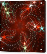 Dancing Red Flower Star In Motion Acrylic Print