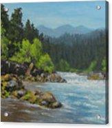 Dancing River Acrylic Print