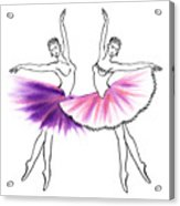 Dancing Tutus In Purple And Pink Acrylic Print