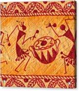 Dancing Warlis Acrylic Print