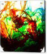 Dancing Water Colors Acrylic Print