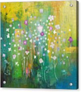 Dancing Wildflowers Series Acrylic Print