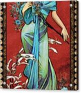 Danella Students 1 Red Acrylic Print