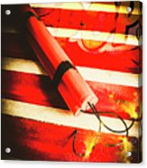Danger Bomb Background Acrylic Print