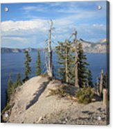Dangerous Slope At Crater Lake Acrylic Print