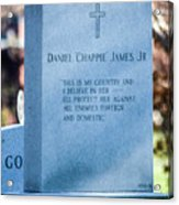 Daniel Chappie James Jr Acrylic Print