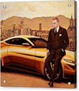 Daniel Craig As James Bond Acrylic Print