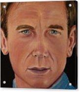 Daniel Craig Oil Painting Acrylic Print