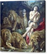 Daniel In The Lions Den Acrylic Print