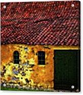 Danish Barn Watercolor Version Acrylic Print