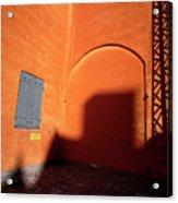Danish Orange And Shadows  Copenhagen Denmark Acrylic Print