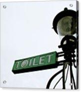 Danish Toilet Sign Acrylic Print