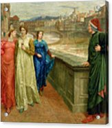 Dante And Beatrice Acrylic Print by Henry Holiday