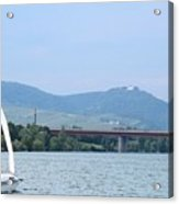 Danube River Sailor Acrylic Print