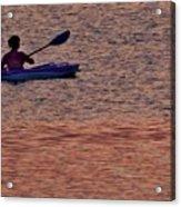 Danvers River Kayaker Acrylic Print
