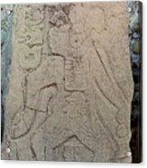 Danzantes Stone Carving Acrylic Print