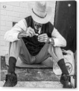 Dapper Man With Toothbrush Acrylic Print