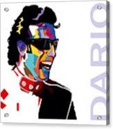 Dario Franchitti Pop Art Style Acrylic Print