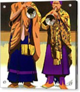 Darjeeling, Lama Dance Musicians, India Acrylic Print