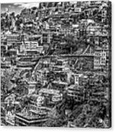 Darjeeling Monochrome Acrylic Print