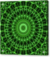 Dark And Light Green Mandala Acrylic Print