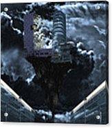 Dark Blue World Acrylic Print