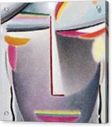 Dark Buddha Acrylic Print by Alexej von Jawlensky