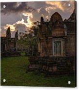 Dark Cambodian Temple Acrylic Print
