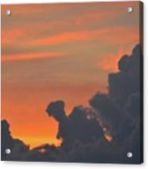 Dark Clouds At Sunset  Acrylic Print