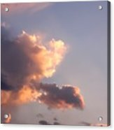 Dark Clouds Fringed With Light Acrylic Print