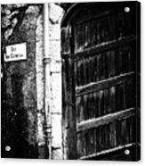 Dark Door Acrylic Print