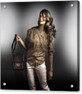 Dark Fashion Style With Fashionable Bag Accessory Acrylic Print