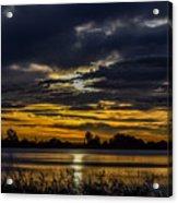 Dark Lake Sunrise Acrylic Print