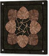 Dark Leaves Acrylic Print