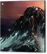 Dark Mountain Acrylic Print
