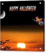 Dark Night Halloween Card Acrylic Print