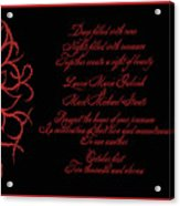 Dark Nights Bright Days Wedding Invitaion Acrylic Print