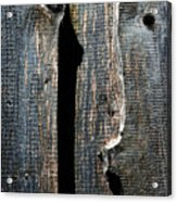 Dark Old Wooden Boards With Shadow Acrylic Print