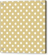 Dark Olive Polka Dots Acrylic Print
