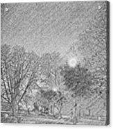 Dark, Rainy Night Acrylic Print